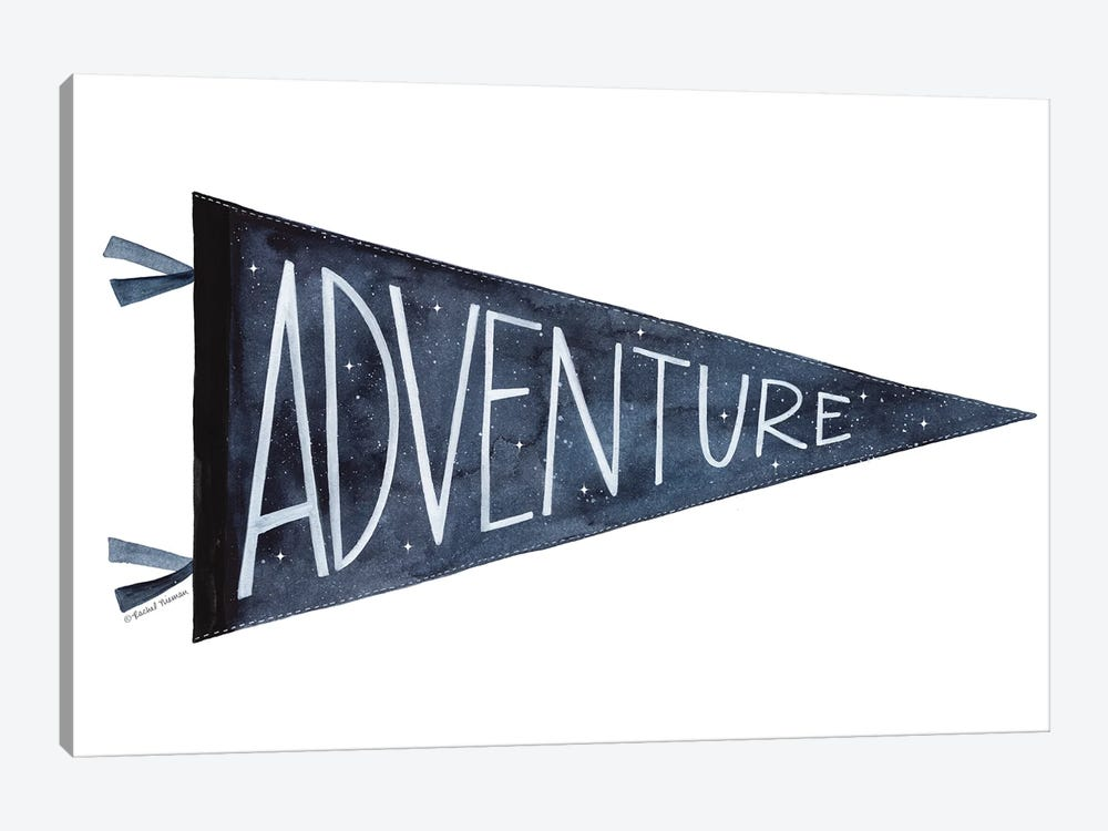 Adventure Pennant by Rachel Nieman 1-piece Canvas Artwork