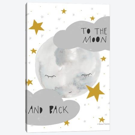 Moon And Back Canvas Print #RNI69} by Rachel Nieman Canvas Art Print