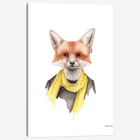 Foxxy Fox Canvas Print #RNI7} by Rachel Nieman Canvas Art Print