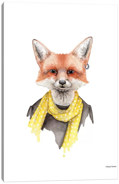 Foxxy Fox Canvas Art Print