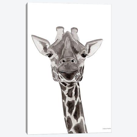 Safari Giraffe Peek-A-Boo Canvas Print #RNI80} by Rachel Nieman Canvas Art Print