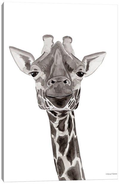 Safari Giraffe Peek-A-Boo Canvas Art Print