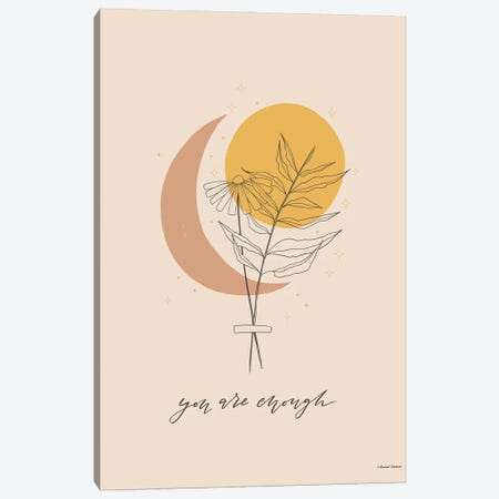 You Are Enough Canvas Print #RNI83} by Rachel Nieman Art Print