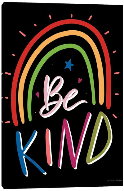 Be Kind Rainbow Canvas Art Print