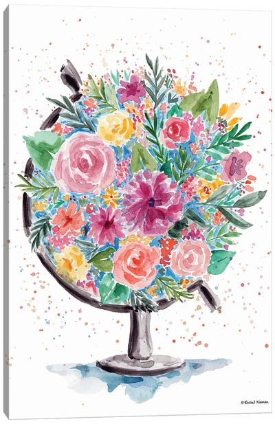 Flower Globe Canvas Art Print