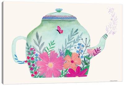 Garden Teapot Canvas Art Print