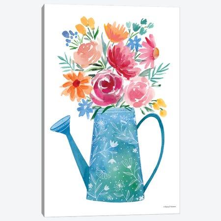 Garden Watering Can Canvas Print #RNI93} by Rachel Nieman Canvas Wall Art