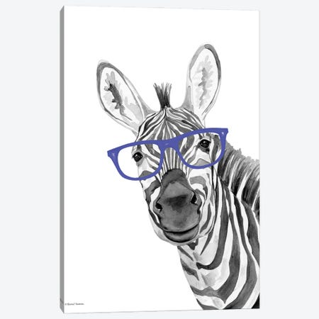 I See You Zebra Canvas Print #RNI94} by Rachel Nieman Canvas Print