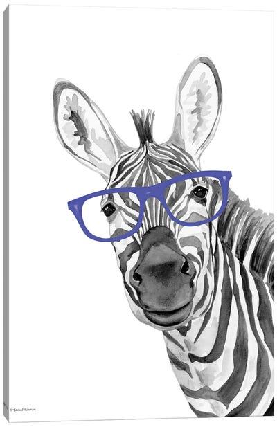 I See You Zebra Canvas Art Print