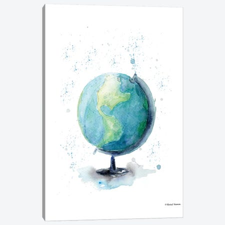 Globe 3-Piece Canvas #RNI9} by Rachel Nieman Canvas Art