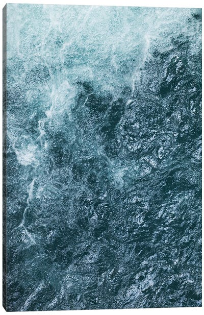 Cool Waters Out To Sea IV - Vertical Canvas Art Print