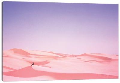 Nude Woman In Pink Desert Sand Canvas Art Print