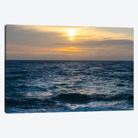 Calm Ocean Sunset 3-Piece Canvas #RNN31} by Ben Renschen Canvas Print