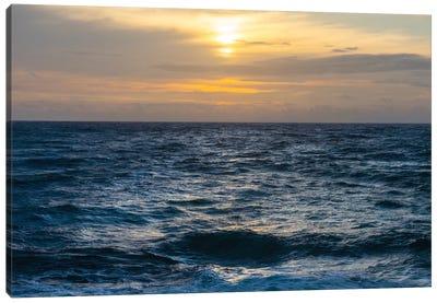 Calm Ocean Sunset Canvas Art Print