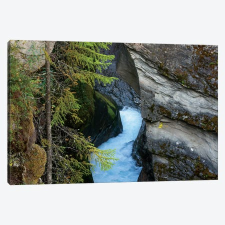 Glacial Water Flows Through Thin Canyon 3-Piece Canvas #RNN36} by Ben Renschen Canvas Art