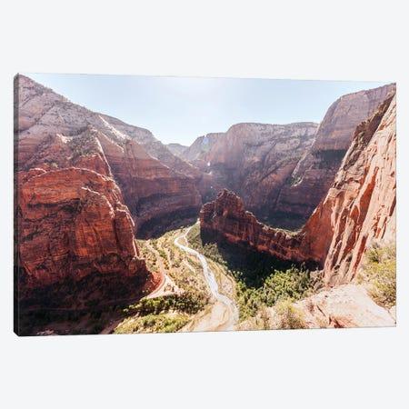 Zion Canyon From Angel's Landing At Zion National Park, Utah Canvas Print #RNN3} by Ben Renschen Canvas Print