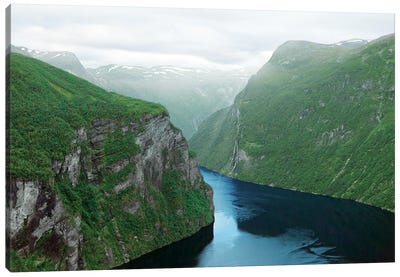 Norway'S Geiranger Fjord Canvas Art Print