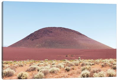 Red Sand Mound In California Desert Canvas Art Print