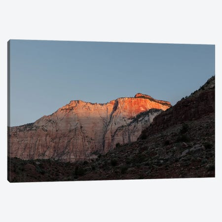 Sunrise Against Canyon Wall Canvas Print #RNN56} by Ben Renschen Canvas Artwork