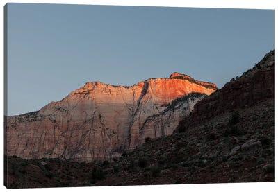 Sunrise Against Canyon Wall Canvas Art Print