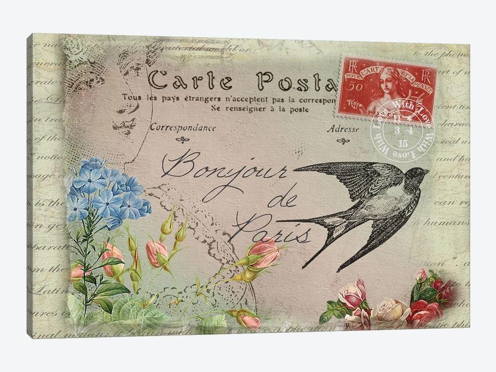 Parisian Postcard #3 by Rnob 1-piece Canvas Print