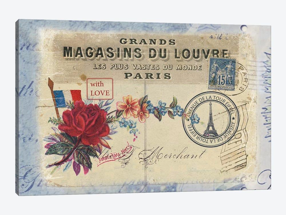 Parisian Postcard #7 by Rnob 1-piece Canvas Wall Art