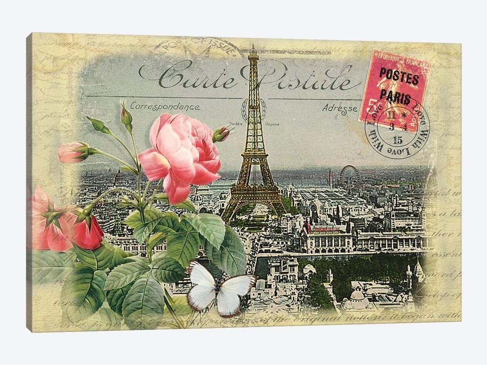 Parisian Postcard #2 by Rnob 1-piece Canvas Wall Art