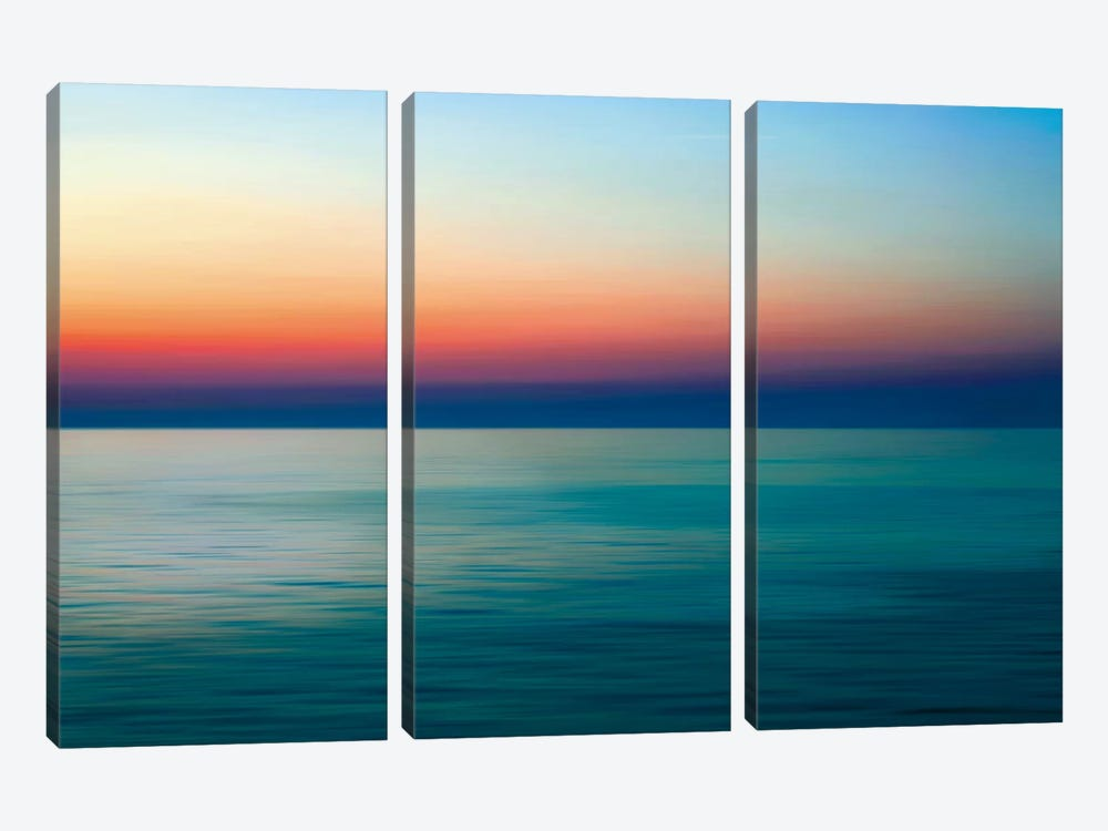 Quiet Waters I by John Rehner 3-piece Canvas Artwork