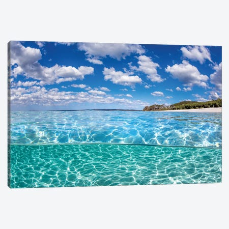 Clarity Chinamans Beach Canvas Print #RNS11} by Jordan Robins Canvas Wall Art