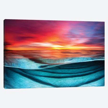 Colour Blur Hyams Beach Canvas Print #RNS12} by Jordan Robins Canvas Wall Art