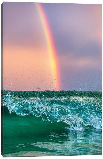 Rainbow Waves Vertical Canvas Art Print