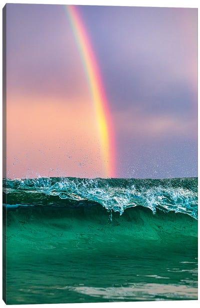 Beneath The Rainbow Vertical Canvas Art Print