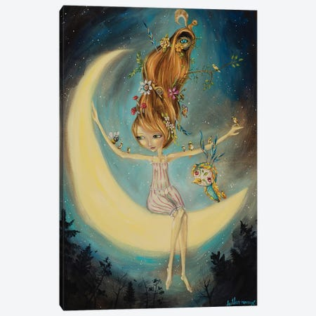 With The Moon Canvas Print #RNX102} by Heather Renaux Canvas Art Print