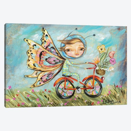 Butterfly Girl Canvas Print #RNX107} by Heather Renaux Canvas Wall Art