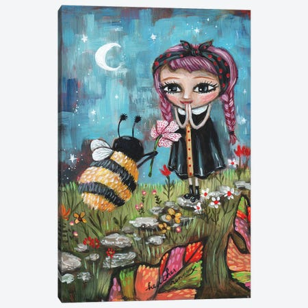 Bee Mine Canvas Print #RNX10} by Heather Renaux Art Print