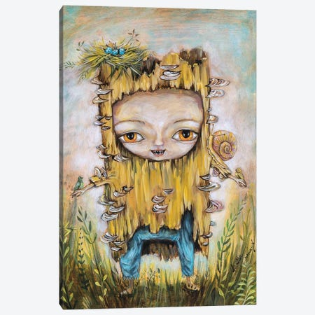 Log Baby Canvas Print #RNX118} by Heather Renaux Canvas Art