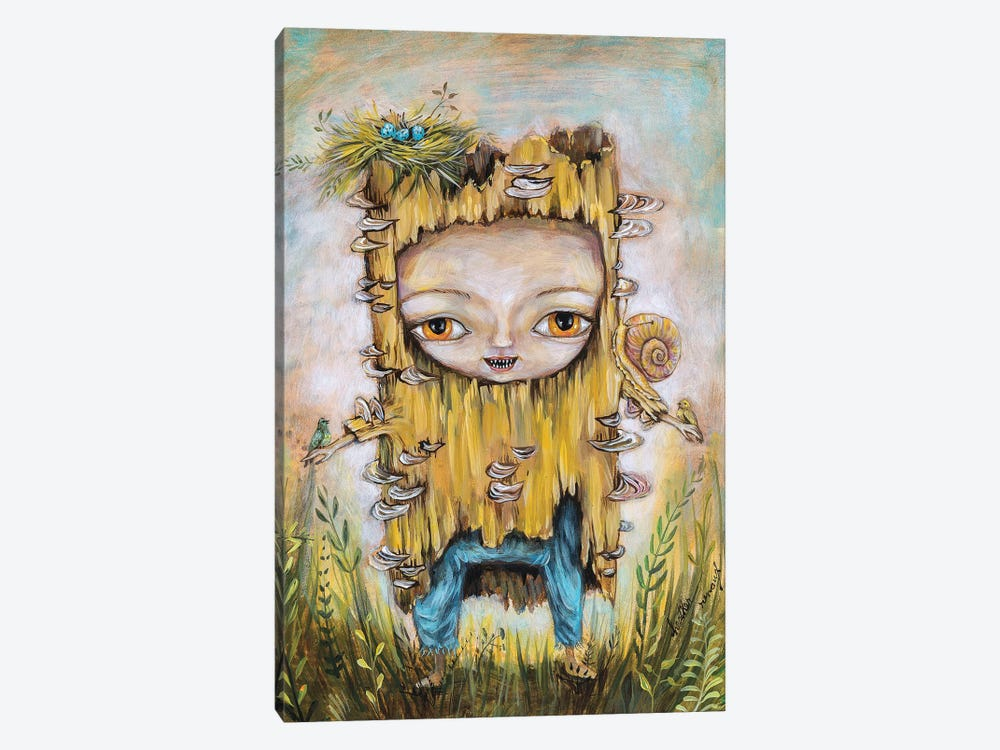 Log Baby by Heather Renaux 1-piece Canvas Print