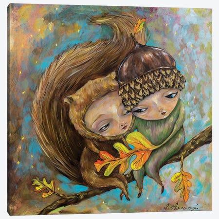 Squirrel Girl Nut Boy Canvas Print #RNX124} by Heather Renaux Canvas Artwork