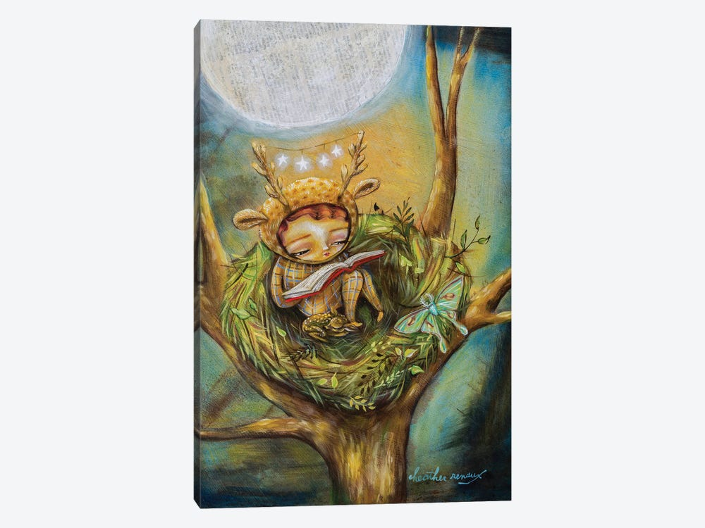 The Reading Nest by Heather Renaux 1-piece Art Print