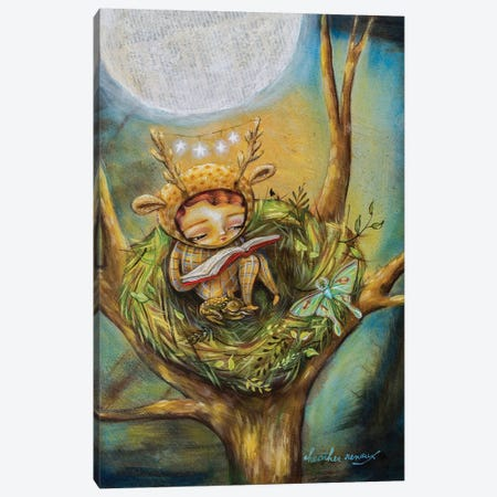 The Reading Nest Canvas Print #RNX129} by Heather Renaux Canvas Print
