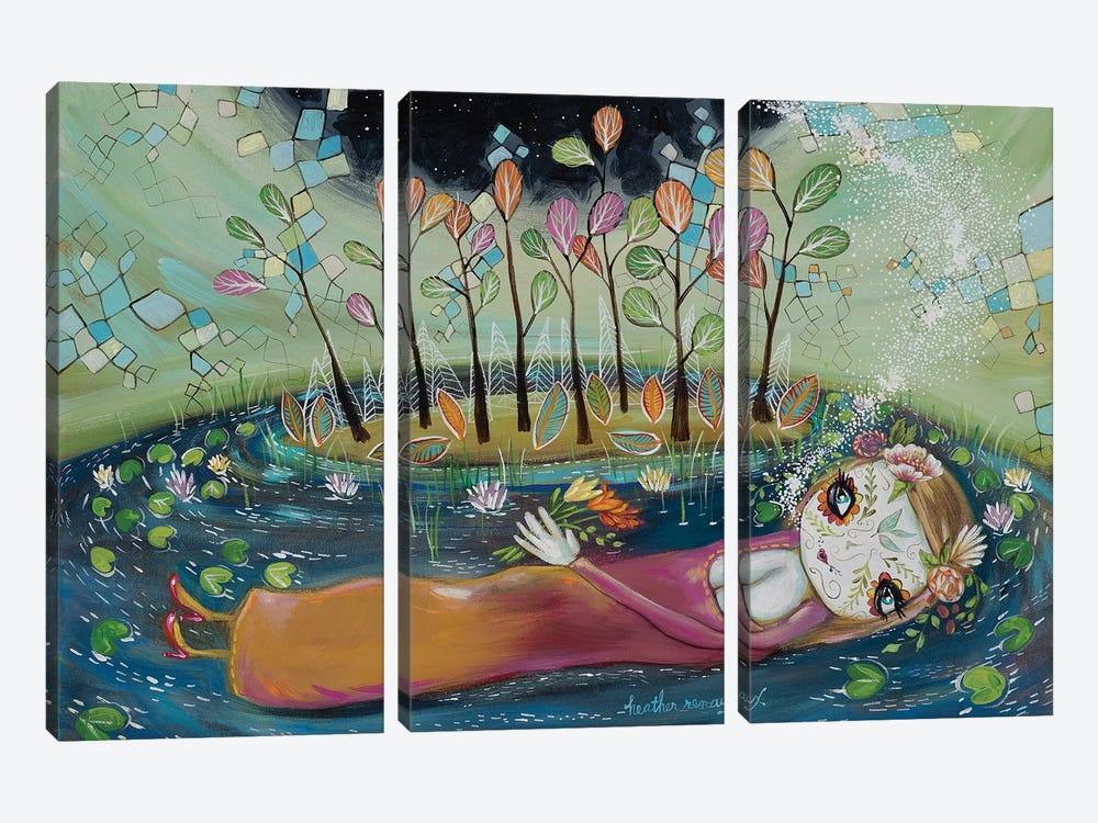 Breathing Life Into The Universe by Heather Renaux 3-piece Canvas Art Print