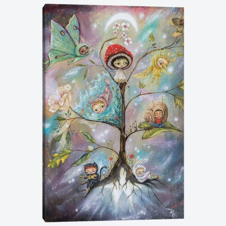 We Are All Stardust Canvas Print #RNX131} by Heather Renaux Canvas Artwork