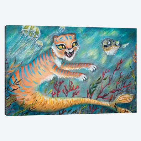 Mertiger And Puffy Canvas Print #RNX136} by Heather Renaux Canvas Print