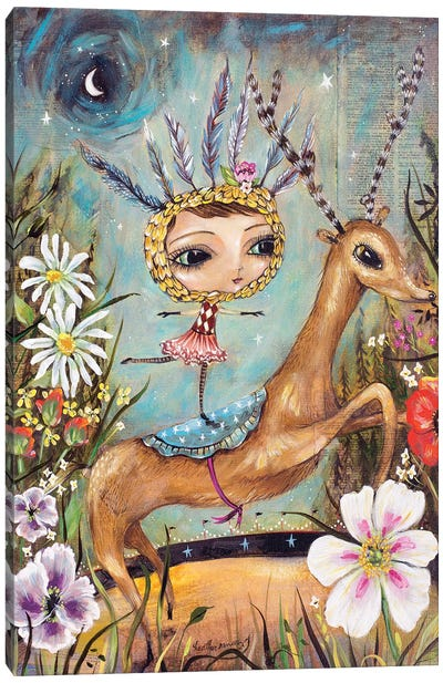 Circus Reindeer Canvas Art Print