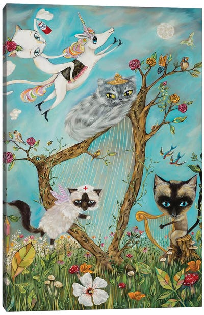 Feline Rhapsody Canvas Art Print