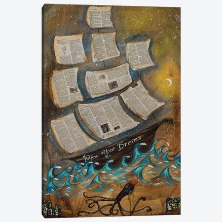 Follow Your Dreams Canvas Print #RNX21} by Heather Renaux Canvas Artwork