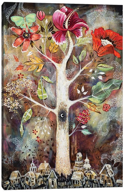 Ghost Tree Land Canvas Art Print