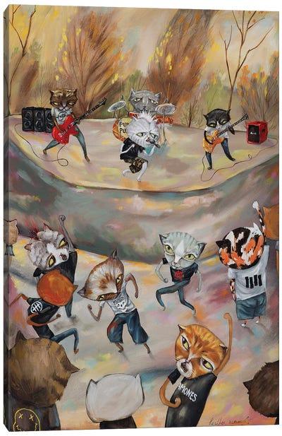 Hardcore Kitties Canvas Art Print