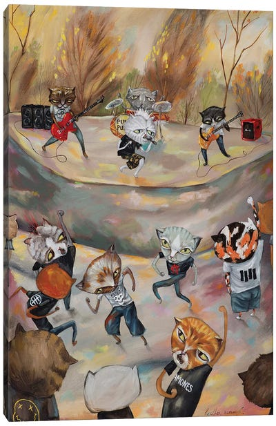 Hardcore Kitties Canvas Art Print