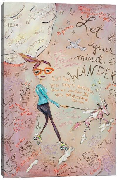 Let Your Mind Wander Canvas Art Print